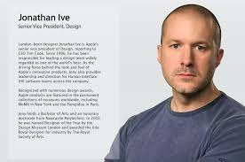 "Design A Office Cool Jony Ive Is Apple's ""Chief Design Officer"" Steps Away From Daily"