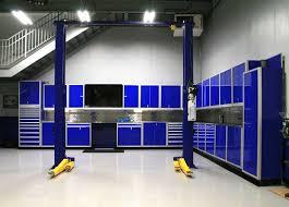 moduline garage cabinets. Moduline Blue Garage Workbench Tool Cabinets Throughout