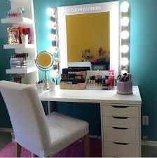 glamorous professional style vanity with storage drawers corner makeup mirror best ideas