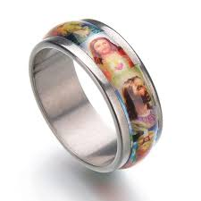 religious jewelry holy christ enamel snless steel ring uni finger ring catholic gifts eternity rings wedding rings for men