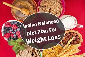 Food Chart To Reduce Weight Indian A Sample Indian Balanced Diet Plan For Weight Loss Health