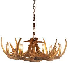 whitetail deer 9 antler cascade chandelier