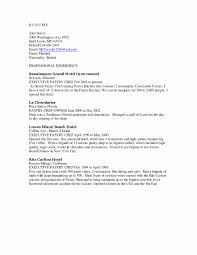 Pastry Chef Sample Resume Resume Templates For Students In High School