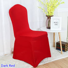 colour dark red spandex chair covers for wedding chair decoration lycra stretch party chair cover on for events show