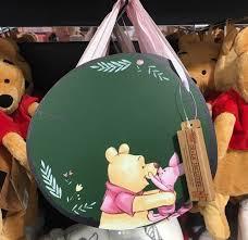 disney winnie the pooh and piglet chalkboard hanging plaque primark