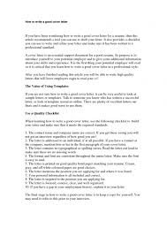 A Good Cover Letter For A Resume Great Cover Letter Cv Writing An Effective 100 Inside How To 83