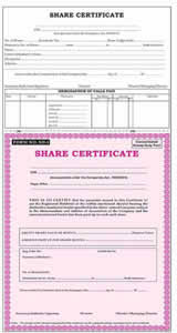 Form Of Share Certificate Share Certificate Format Pack Of 50 Usable Form No Sh 1
