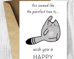 Funny Birthday Card Printables Funny Birthday Cards Printables Funny Siamese Cat Birthday Etsy