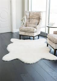 faux polar bear rug 58