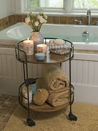 rustic side table astoria rolling accent table industrial vibe house home decor bathroom rustic side table