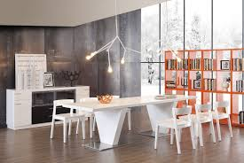 High Gloss Dining Table Modern White High Gloss Dining Table