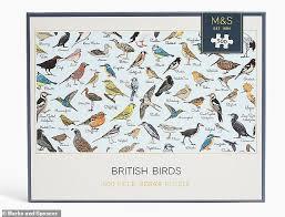 British Garden Birds Chart Marks Spencer Mocked For Its British Birds Jigsaw As A