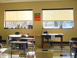 classroom window. Classroom Shades Window F