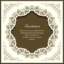 vintage ornate frame cutout card template stock vector free templates