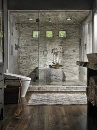 faux stone in the shower as it s durable and looks cool and wild