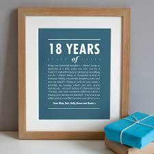 gifts for him australia personalised 18th birthday print artwork in regatta blue a solid oak frame