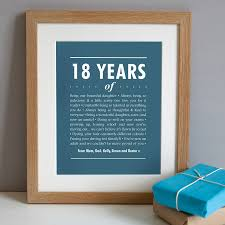 gifts for him australia personalised 18th birthday print artwork in regatta blue a solid oak frame