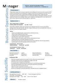 Operations Management Resume Summary A Good Resume Example