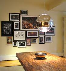 Wall Collage Living Room Design Photo Collage Dining Room Eclectic With Picture Frames Art