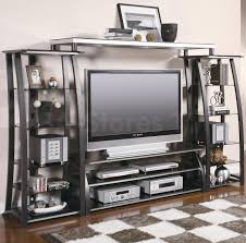 entertainment centers and wall units contemporary metal and glass