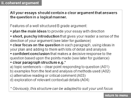 assessment objective one ppt video online  features of a well structured b grade argument