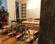 wishbone chairs extend table