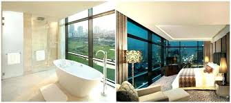 in floor bathtub in floor bathtub presenting an unobstructed and spectacular view the impressive bathroom is in floor bathtub