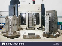 machining center pallet. horizontal machining centre with automatic pallet changer - stock image center