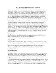 good sample resume objective statements cipanewsletter cover letter sample resume objective statements sample resume