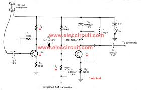 two transistors fm wireless microphone circuit electronic simple two transistors am transmitter circuit