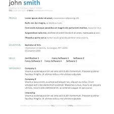 Resume Examples Microsoft Word Resume Format Microsoft Office Word 2007 Curriculum Vitae Ms File In