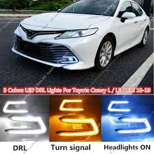 2017 Toyota Camry Led Fog Lights Details About 3 Colors Daytime Running Led Drl Fog Light K For Toyota Camry L Le Xle 2018 2019