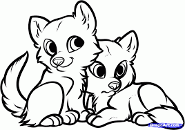 baby wolf drawing. Wonderful Wolf Cute Animals To Color  AZ Coloring Pages Intended Baby Wolf Drawing N