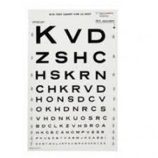 Eye Chart Letters Tech Med Illuminated Snellen Eye Chart