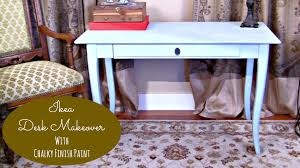ikea furniture desk. Mark Montano Restyles An IKEA Desk With Chalky Finish Paint Ikea Furniture