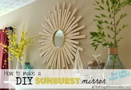 how to make a diy sunburst mirror