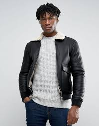 pull bear faux leather aviator jacket with fur collar in black men jackets pull bear jeans pull bear jeans in slim fit here