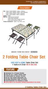 Camping Folding Table And Chairs Set New Snowline 2 Folding Table Chair Set For 4 Persons Aluminium