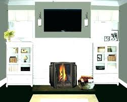 painting red brick fireplaces painted
