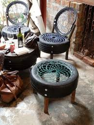 ideas for patio furniture. Or Use It To Craft A Full Patio Set Containing Of Tire Chairs And Table Ideas For Furniture