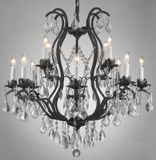 most recent a83 3034 8 4 wrought iron chandelier chandeliers crystal chandelier throughout