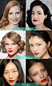 red lipstick for your skin tone