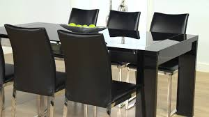 cannes black high gloss dining table and cologne chairs ofstv you