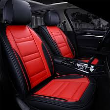 details about premium red black leather car seat covers for mazda 2 3 6 cx5 cx7 ford focus