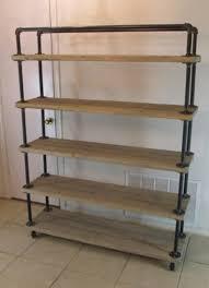 weathered wood shelves shelfcart 5 tier reclaimed wood steel pipe weathered oak metal pipe shelves weathered weathered wood shelves