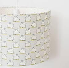bunny linen nursery lampshade