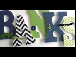 Wooden Letters Design Wooden Letter Decor Youtube