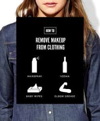 how to get makeup out of clothes