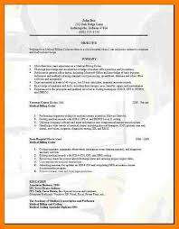 Gallery Of 4 Medical Coder Resume Format Sephora Resume Medical
