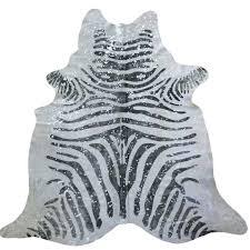 muriel kay zebra with silver metallic splash cowhide mkcf1001 34